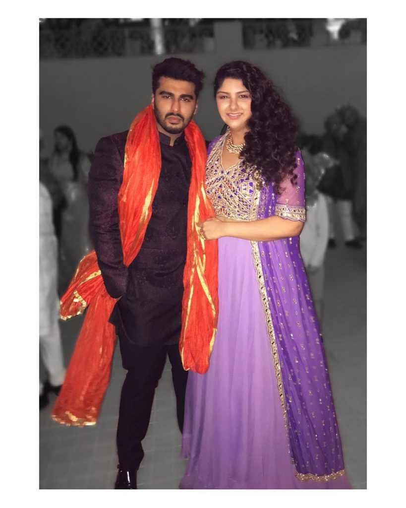 Anshula kapoor with her brother Arjun Kapoor