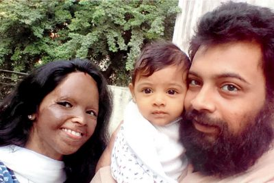 Laxmi Agarwal With Boyfriend and Daughter