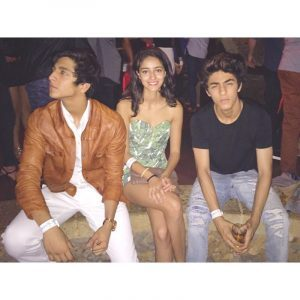 Ananya With Ahan pandey and Aryan Khan