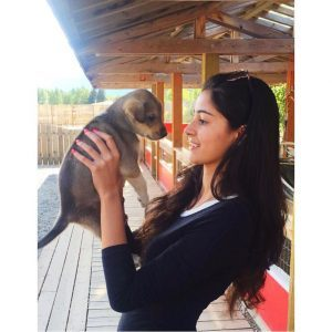 ananya panday with puppy