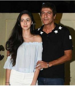 Ananya pandey with her father