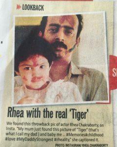 Rhea chakraborty with Father