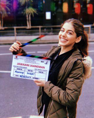 Alaia in jawani janeman shooting