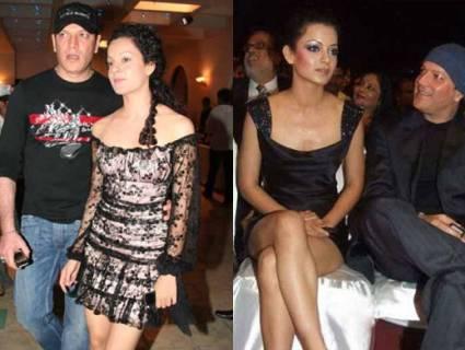 Kangana Ranaut with Aditya pancholi
