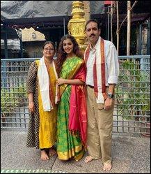 Malavika Sharma with Parents