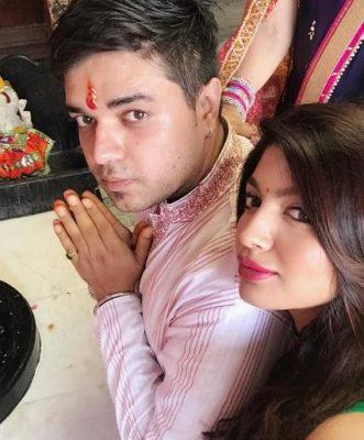 Akansha Puri With Her Brother