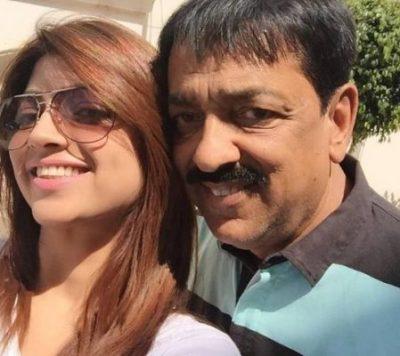Akansha Puri With Her Father