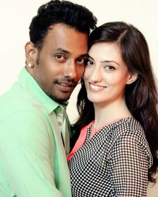 Dharmesh Yelande with Breshna Khan