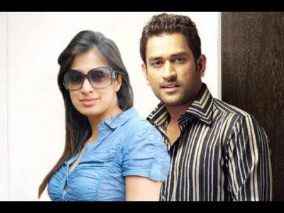 Raai Laxmi with M S Dhoni