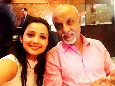 Adaa Khan with Father Abaas Khan