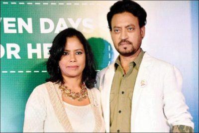 Irrfan Khan with wife