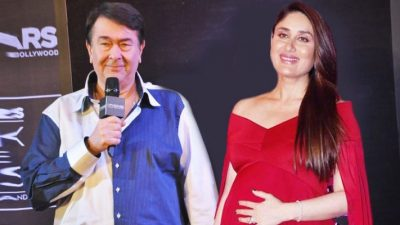 Kareena Kapoor with Father Randhir Kapoor
