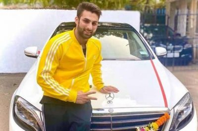 Mayur Verma With His Car