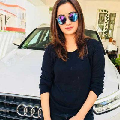 Namitha Pramod With Her Car