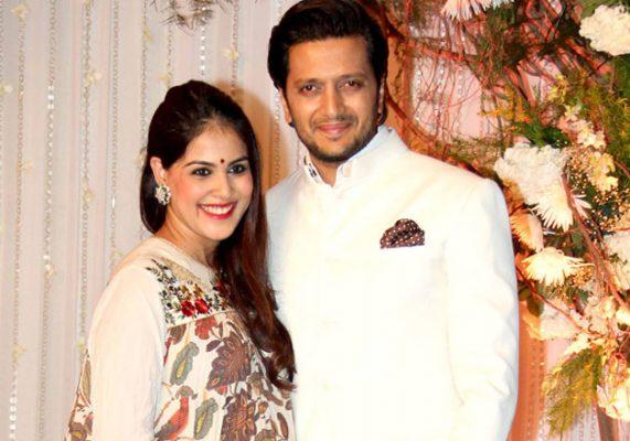 Ritesh Deshmukh With His Wife Genelia