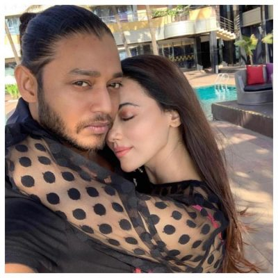 Sana Khan With Melvin Louis