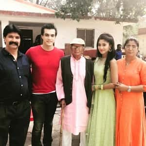 Shivangi Joshi With Her Parents Grand Father And Mohsin Khan