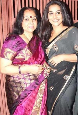 Vidya Balan With Her Mother
