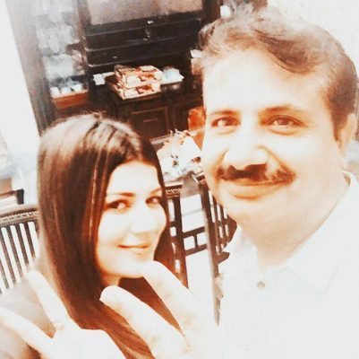 Kainaat Arora With Her Father