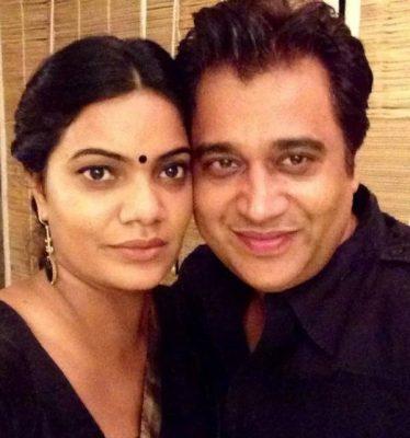 Manu Rishi With His Wife