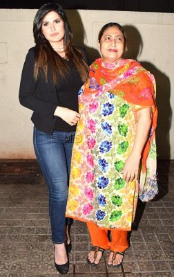 Zareen Khan With her Mother