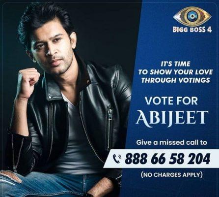 Abijeet Duddala Bigg Boss Telugu 4 Voting