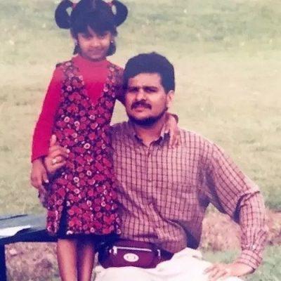 Kira Narayanan With Her Father Jyothi Narayanan