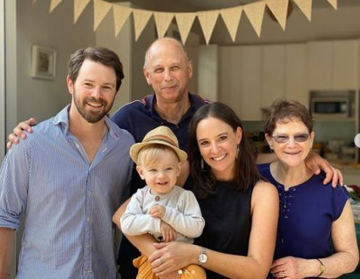 Neroli Meadows With Her Family