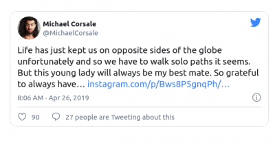 Michael CorsaleTweet For Shruti Hassan