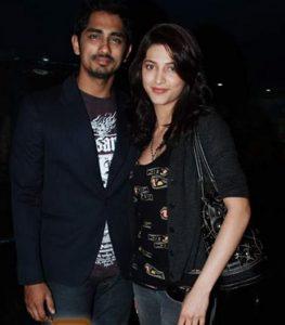 Siddarth With Shruti Haasan