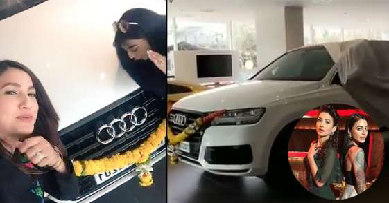 Gauhar Khan Car Audi Q7