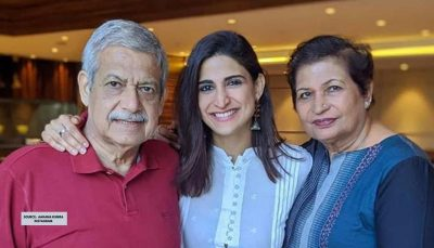 Aahana Kumara With Her Parents